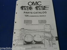 1990, 125 Commercial Models OMC Evinrude Johnson Parts Catalog