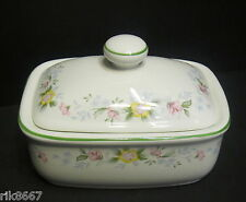 Alpine English Fine Bone China butter dish By Milton China (Green Rim)
