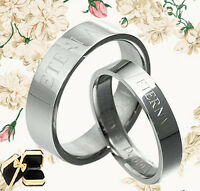 Valentine's Day Personalize Lord of Ring Elvish Matching Wedding Ring Set 048EE
