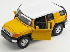 BLITZ VERSAND Toyota FJ Cruiser gelb / yellow  Welly Modell Auto 1:34 NEU & OVP