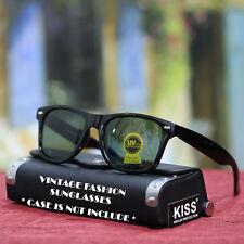 New Mens Vintage Fashion Black Sunglasses Retro Party Style Green UV 400 Shades