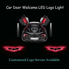 2Pcs Car Door Red Dark Knight Batman Logo Laser Projector Ghost Shadow LED Light