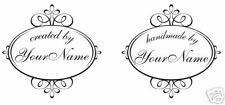 UNMOUNTED PERSONALIZED Handmade BY CUSTOM RUBBER STAMPS C118