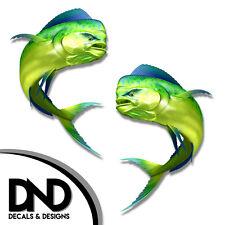 "Mahi Mahi - Fish Decal Fishing Hunting Bumper Sticker ""3in SET"" F-0370 D&"