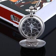 FullMetal Alchemist Anime Manga Taschenuhr Uhr mit Kette Neu