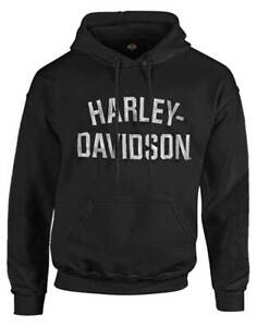 Harley-Davidson Men's Heritage Pullover Hooded Sweatshirt Black Hoodie 30296635