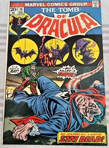 * TOMB of DRACULA 15 (NM 9.4) I Killed a Vampire! OWP WOW! *