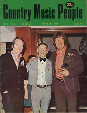 George Hamilton IV on Magazine Cover February 1974    Tex Ritter   Jeanne Pruett