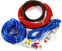 10 AWG GAUGE AMPLIFIER WIRING KIT TERMINALS RCA POWER CABLE 400W 40 AMP