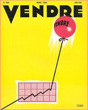 ▬►MARKETING PUBLICITÉ  -- VENDRE N° 289 (MARS 1954) --  COVER MUCKENS-TOUROT