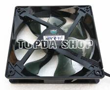 1PC Cool A12025-22CB-4BP-F1 12V 0.54A 12*12*2.5CM White Light Cabinet CPU Fan
