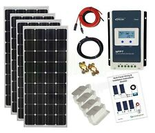 400w Solar Panel Kit 24V MPPT controller battery charging cables brackets K4M