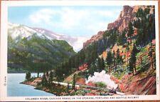 Spokane, Portland & Seattle Railway/Railroad 1940s Linen Postcard - Cascades