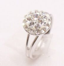 Free Ring Size Range L M N O P Solitaire White Gold Plated Simulated Diamond UK