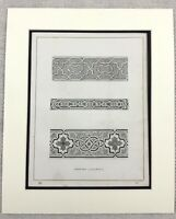 1859 Print The Alhambra Ornate Architectural Mosaic Border Original Antique