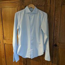 "ARMANI COLLEZIONI Light Blue Modern Fit Double Cuff Formal Shirt 15 1/2"" 39cm"