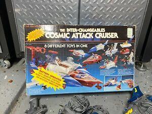 1987 INTER-CHANGEABLES COSMIC ATTACK CRUISER MICRONAUT MEGO M&D HOURTOYS TAKARA