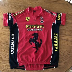 Trifemme Ferrari Colnago Cycling Racing Jersey Unisex Red Black Size XL