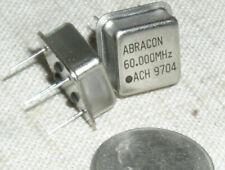 2 Abracon Ach 60000mhz 60mhz Crystal Clock Oscillator 5v Hcmos Ttl Half Dip Usa