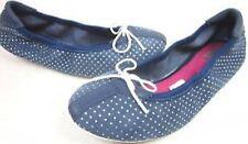Puma Women's Kitara Polka Dot Ballet Slip on Shoes Size 6.5 Blue / Dark Denim