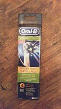 Genuine Oral B Crossaction 4 Pack toothbrush Heads. UK seller.