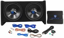 Rockville RV12.2A 1200W Dual 12 inch Car Subwoofer Enclosure Mono Amplifier Kit