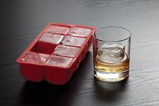 Big Block Cocktail Large Ice Cube Tray, Silicone, 2-Inch Cubes