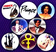 Prince x 8 1 inch pins button badge Purple Rain 1999 Little red corvette RIP