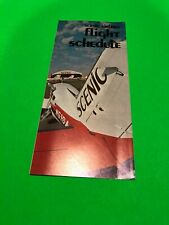 Scenic Airlines 1977 Timetable