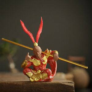 handmade craft Monkey king statue home decoration real yixing zisha tea pet new