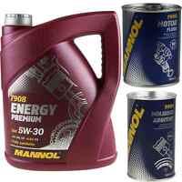 5L MANNOL Energy Premium 5W-30 API SN/CF Motoröl Öl Molibden Motor Flush
