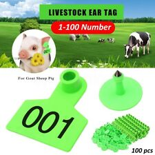 01-100 Number Animal Goat Sheep Pig Cow Cattle Use Ear Tag Livestock Tags Labels