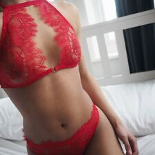 Sexy Womens Floral Sheer Lace Triangle Bralette Unpadded Bra Crop Top Lingerie