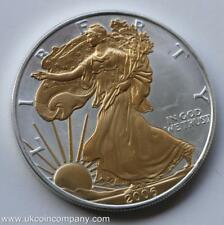 2006 American 1oz Fine Silver Liberty Eagle Gilded $1 One Dollar Coin