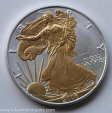 2006 American 1oz Fine Silver Liberty Eagle Gilded $1 One Dollar Coin
