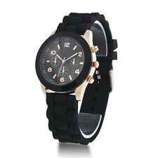 Colorful Women Men Geneva Silicone Jelly Gel Quartz Analog Sports Wrist Watch GA