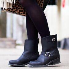 FRYE Engineer 8R oiled womens motorcycle boots 7 M Black🌚👢👢🖤