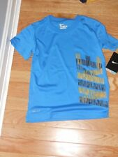 NWT - Nike short sleeved blue, yellow & black dri-fit shirt - 6 boys