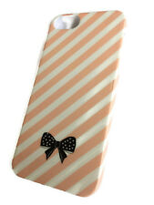Bombay Ducks London Iphone 5 Beautiful bow stripe Pink cover case protector skin