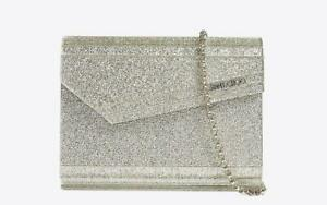 Jimmy Choo Candy Bag Clutch Purse Champagne Dust Bag Included