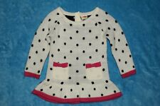 Girls 12 month Healthtex Double Stitched Long Sleeve Sweater Dress with Ruffle