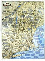 ⫸ 1987-2 New England, Making of America – National Geographic Map Poster School