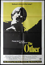THE OTHER Vintage One Sheet Movie poster Diana Muldaur Horror Robert Mulligan
