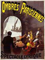 ADVERT THEATRE STAGE SHADOW PLAY FRIENDS PARIS COOL ART PRINT POSTER ABB6310B