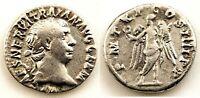 Roma-Trajano. Denario. 98-111 d.C. Roma. EBC-/XF-. Plata 3,2 g. Muy bonita