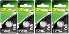 4x GP CR2016-C1 Litihium 3V Coin Cell CR2016/DL2016 Batteries (4 Batteries)