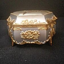 Rare Vintage Hexaogonal Japanese Music Trinket Box w/ Signature Plays Evergreen
