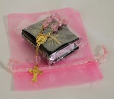 "MINI BIBLE PINK ROSARY FOR 18"" AND 15"" AMERICAN GIRL DOLL ACCESSORIES"