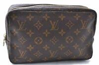 Auth Louis Vuitton Monogram Trousse Toilette 23 Clutch Hand Bag M47524 LV B7189