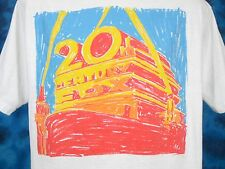 vintage 80s 20TH CENTURY FOX T-Shirt LARGE/XL movie film studio art soft